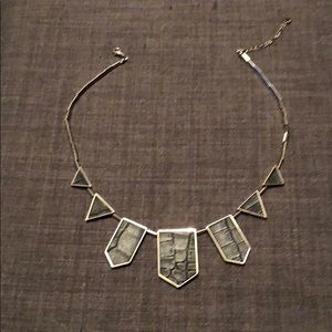 House of Harlow embossed leather necklace